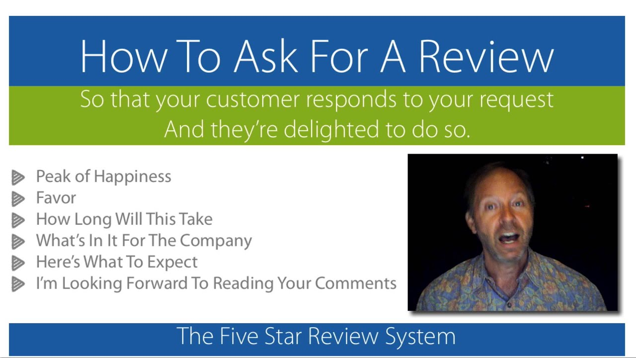 how to ask customers for online reviews