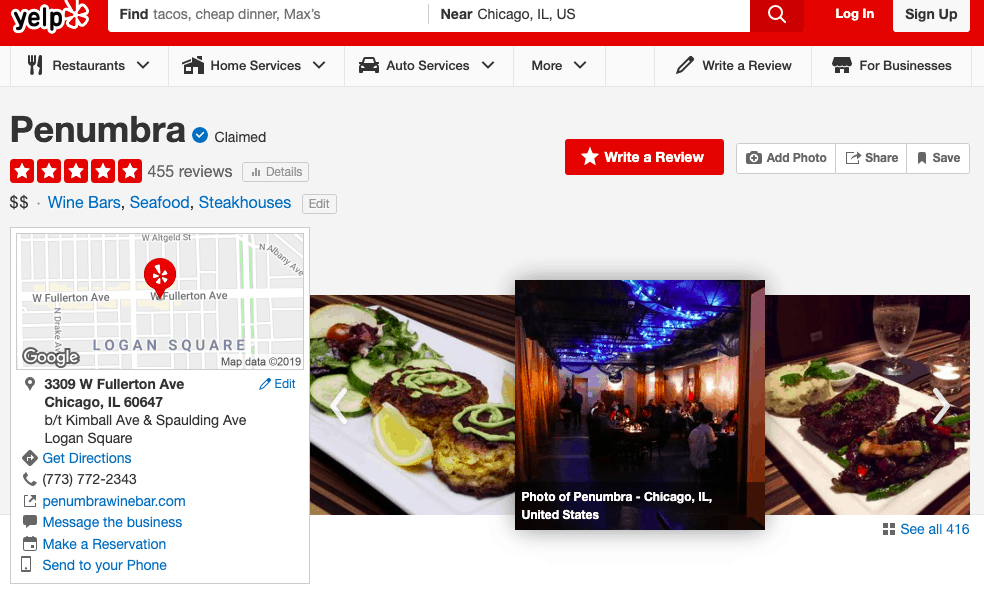how to put a review on yelp