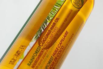 body shop coconut hair oil review