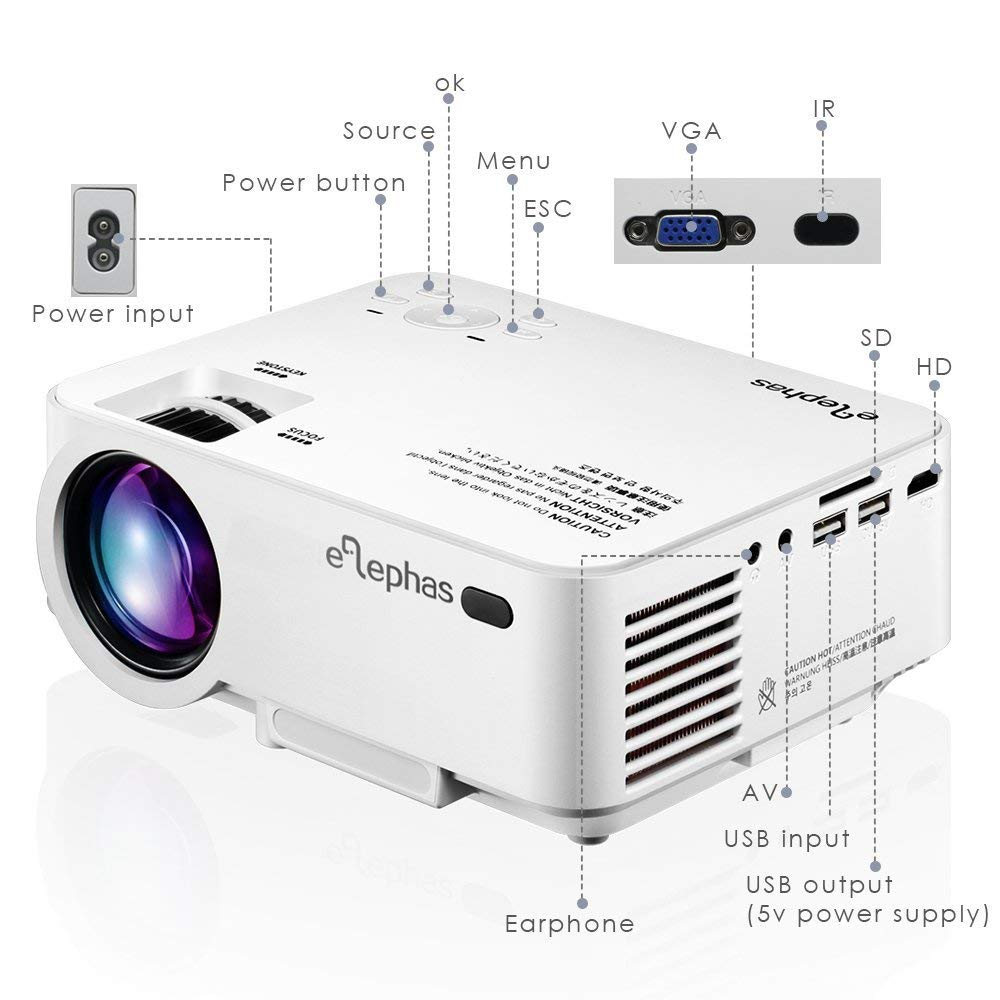 elephas 1200 lumens projector review