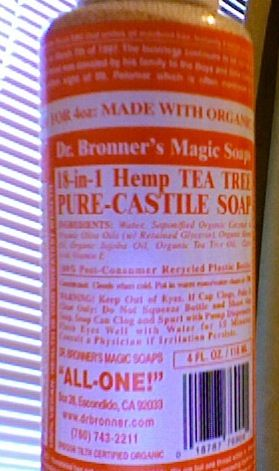 dr bronner tea tree soap review