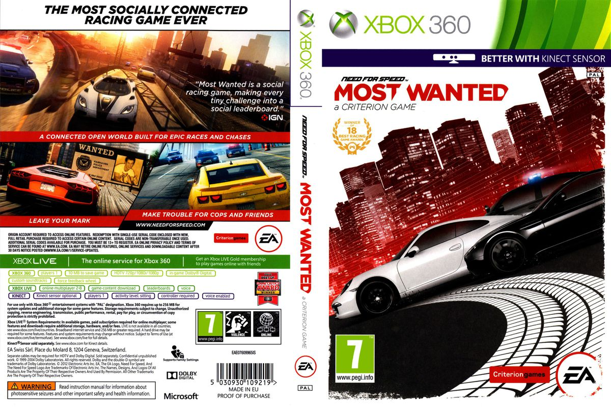 need for speed most wanted xbox 360 review